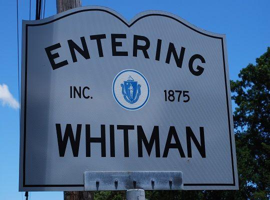 Entering Whitman Whitman Massachusetts Home Of The