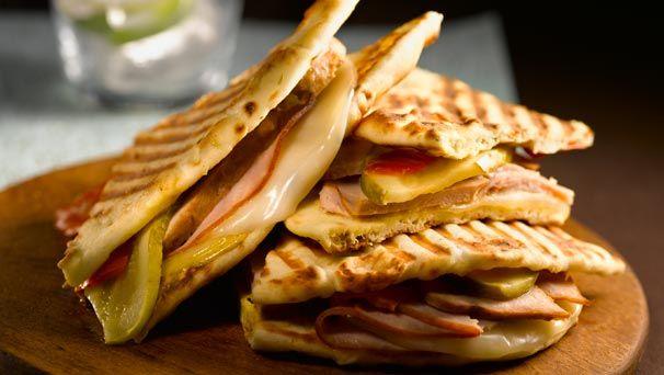 Naan Spicy Cuban Panini | Recipe Ideas | Pinterest