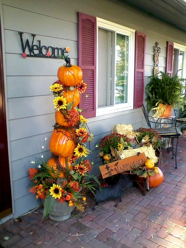Front Porch Decorations For Autumn Fall Y 39 All Pinterest