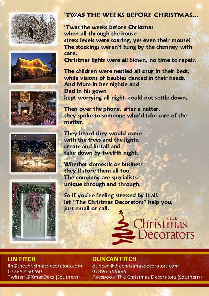 twas the night before Christmas | Ask for Lin at the Christmas Decora ...