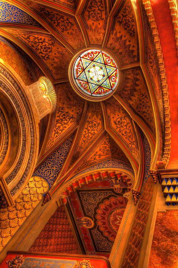 ✯ Synagogue - Prague, Czech Republic - Star of David in the Center
