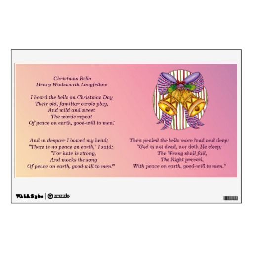Longfellow christmas bells poem wall decal by inspiration junction