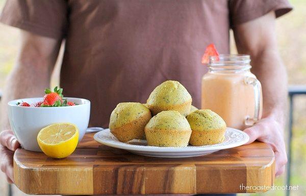 Lemon Poppy Seed Muffins (gluten-free!) | http://www.theroastedroot ...