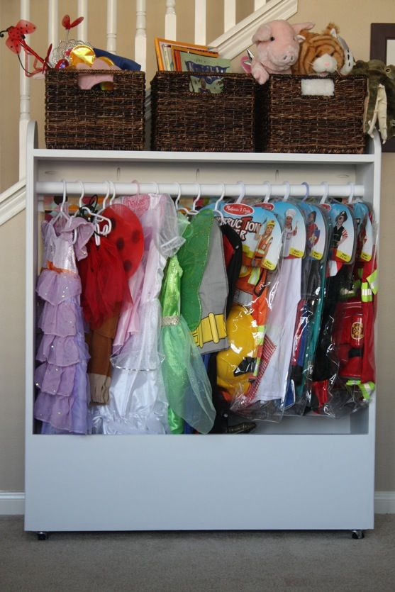 DIY Dress Up Storage Closet for Kids and a Puppet Theater