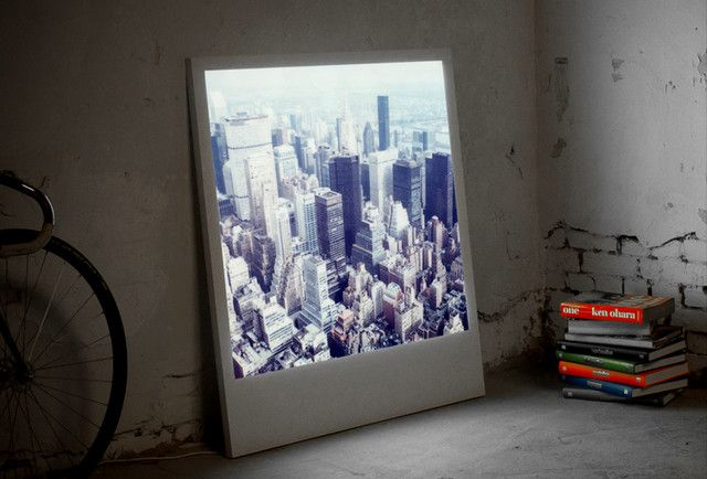 Polaboy: Enlarge a polaroid or digital image to giant size and then mount it in an LED powered lightbox. Swap the photos out at will. http://tinyurl.com/7yuas84  #Photography #Light_Box #Polaboy