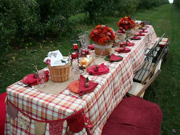 Country apple banquet table decorations occasions for Apple decoration