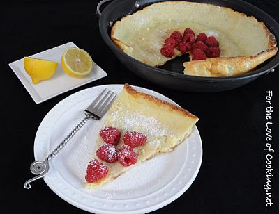 German Pancake with Lemon and Raspberries - Confession: I used a ...