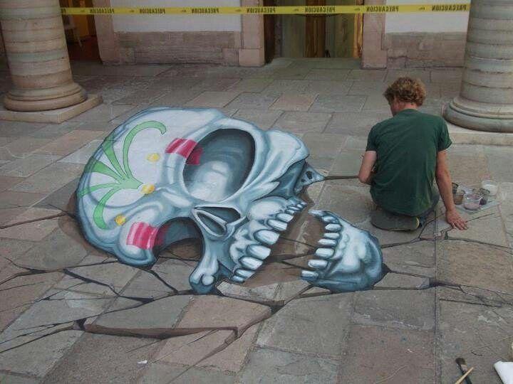 Sidewalk Skulls