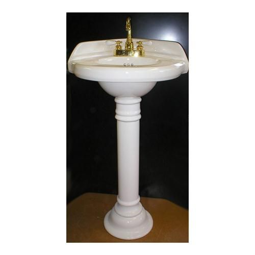 19 Inch Pedestal Sink : 19 inch wide Corner Sink and Pedestal by Anawalt Custom Sinks on ...