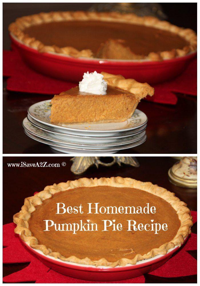 Homemade Pumpkin Pie Recipe Ingredients Needed: 1 can (15 oz) pumpkin ...