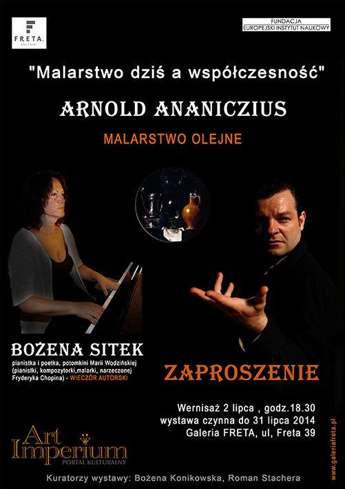 Wieczór autorski Bożeny Sitek i wernisaż malarstwa Arnolda Ananicz-iusa