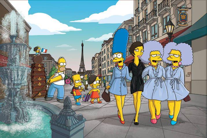 The Simpsons Go to Paris with Linda Evangelista