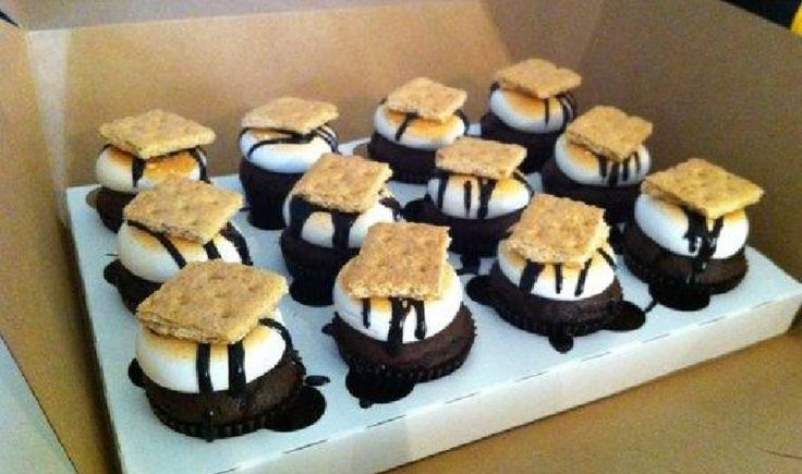 ... toasted marshmallow frosting, drizzled chocolate and a graham cracker
