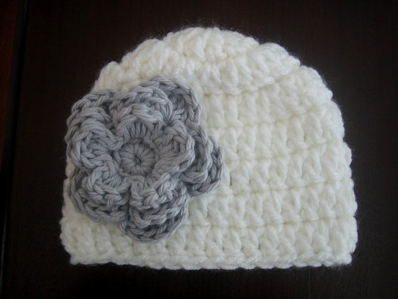 Crochet PATTERN - Easy Beanie With Flower Crochet Hat ...