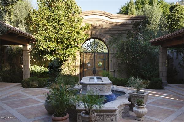Mediterranean Courtyard Garden Italian Mediterranean