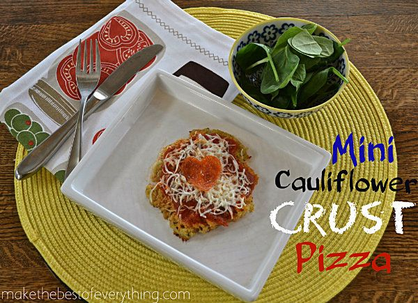 Cauliflower Pizza Crust - something to try since I can't eat sodium!