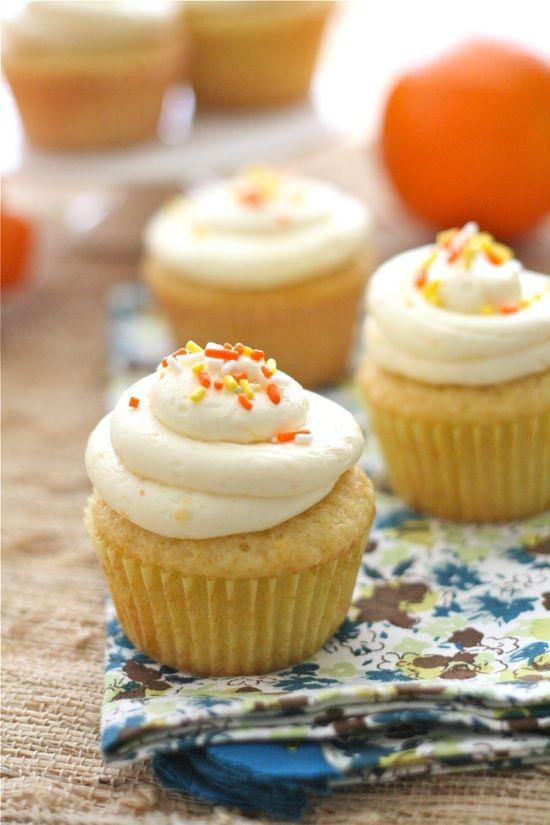 Orange Almond Easter Cupcakes