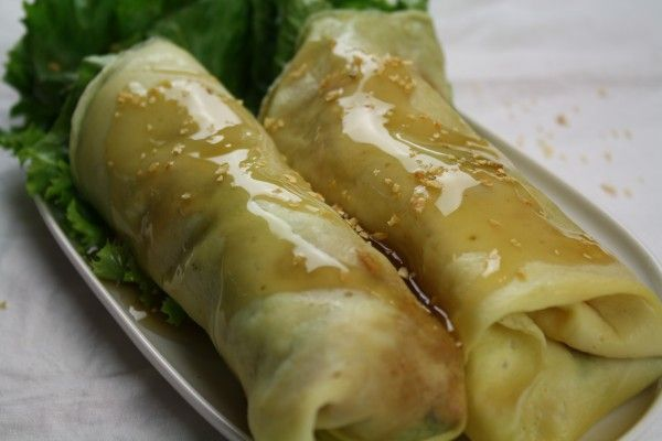 Filipino Fresh Vegetable Lumpia with Homemade Egg Wrapper on http ...