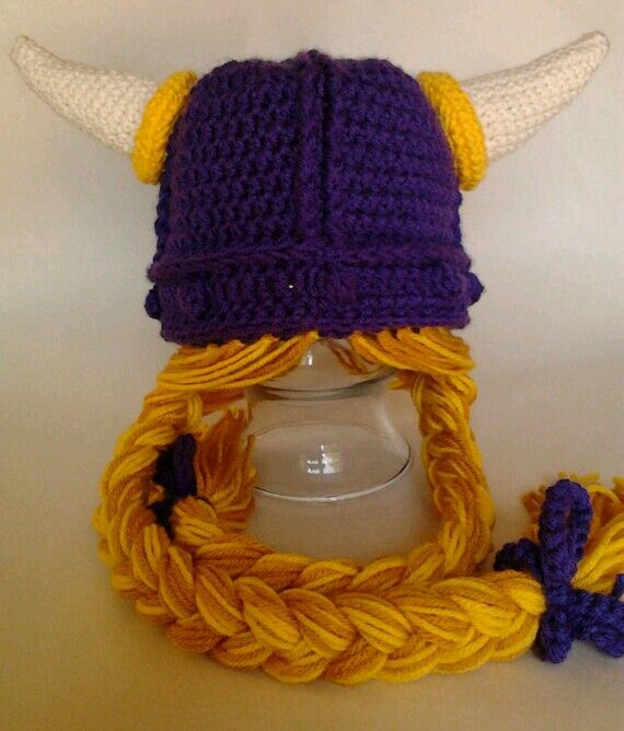 Crochet Braids Mn : MN Viking hat with braids Minne-snow-ta love Pinterest