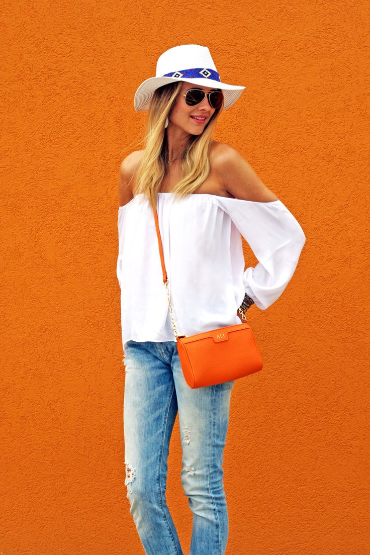 GiGi New York | Tangerine Maggie cross-body | Fashion Jackson Blog