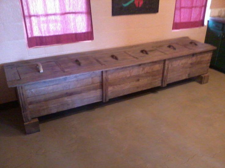 Rustic chic indoor outdoor wood storage unit toy box xl for Outdoor storage units for sale
