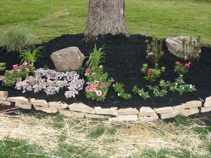 Decorative Stones For Flower Beds : Pin by leslie dietz on garden ideas pinterest