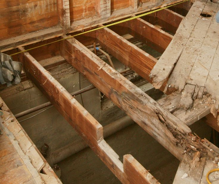 How to repair a butchered floor joist construction for Floor joist construction