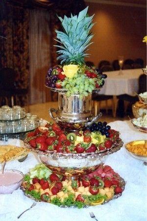 wedding reception fruit table wedding desserts pinterest