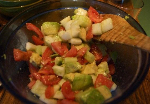 Cucumber, Tomato, and Avocado Salad | Recipes - Salads | Pinterest