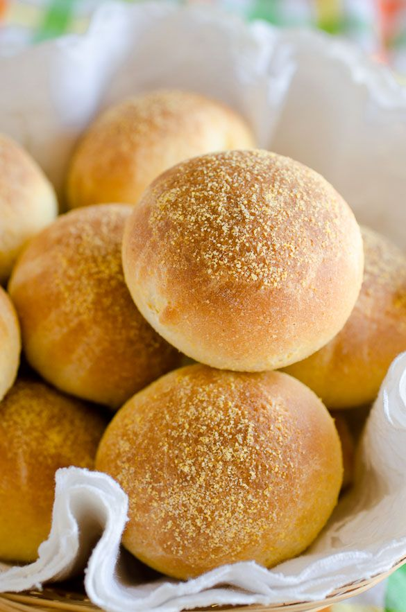 Buttery Cornbread Yeast Rolls - sliced in half, toasted in more butter ...