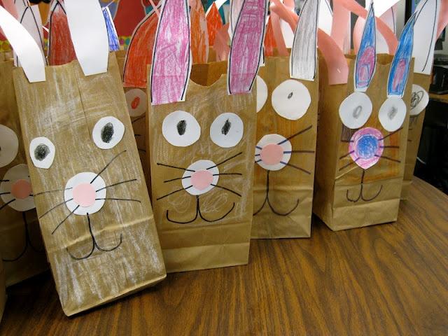 Easter egg hunt bags kindergarten spring pinterest