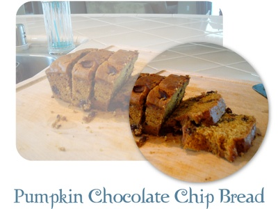 Pumpkin Chocolate Chip Bread | Sweet | Pinterest
