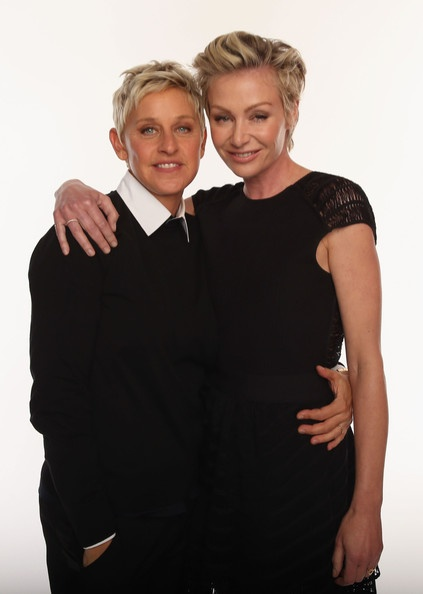 and Portia de Rossi pose for a portrait during the 39th Annual Peoples ...