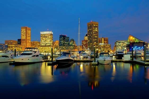 Baltimore, MD at night | Maryland Nightlife | Pinterest