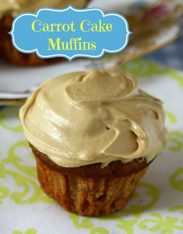 Carrot cake muffins with molasses cream cheese icing These are light ...