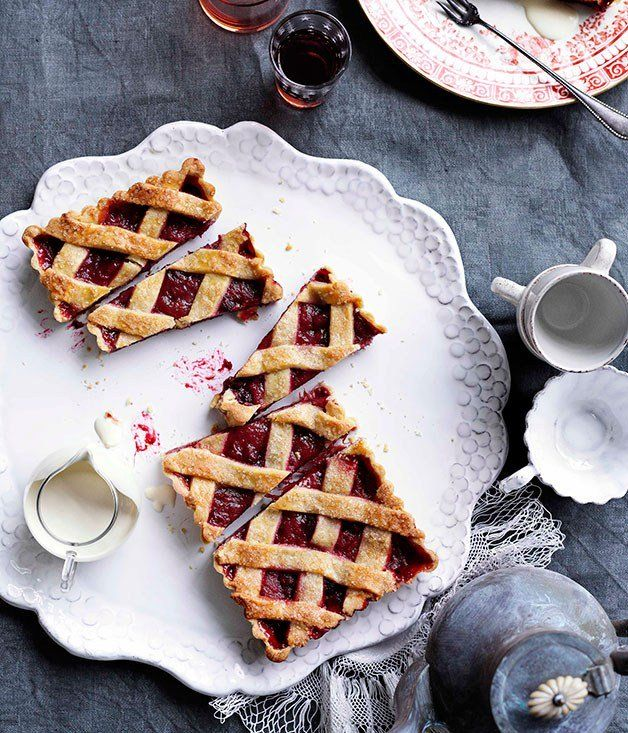 Rhubarb and raspberry crostata | Baked Goods | Pinterest