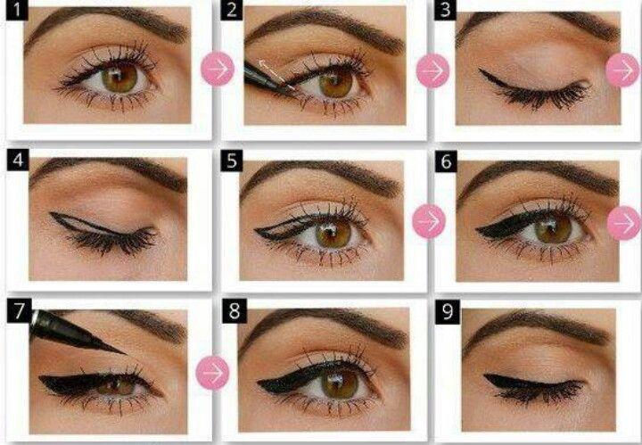 Как правильно красить глаза инструкция