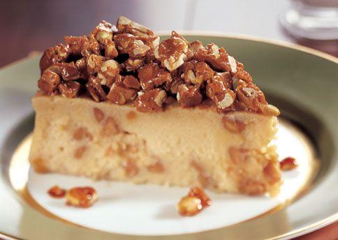 Peanut Butter Cheesecake with Peanut Brittle: Recipe: bonappetit.com
