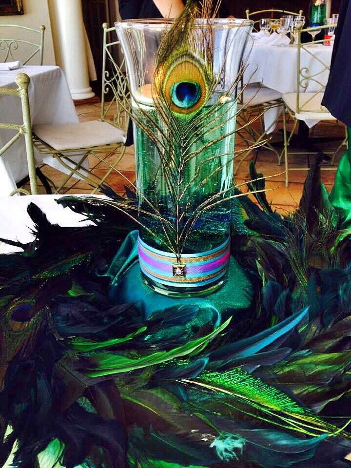 Peacock Inspired Centerpiece Party Decorations Pinterest