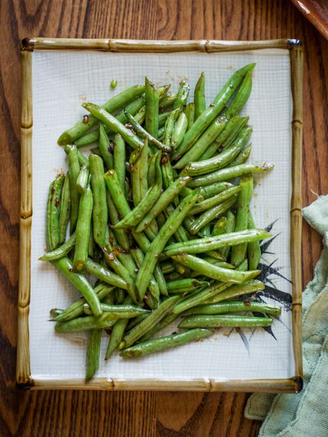 Sesame Green Beans Recipe- Easy Vegetable Recipe in 30 minutes from ...