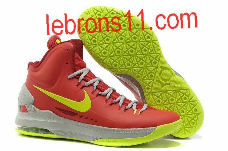 KD 5 Girls Sport Red Volt Wolf Grey Basketball Shoes for Womens