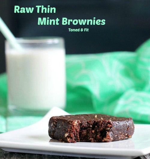 Raw Thin Mint Brownies | Toned & Fit | recipes | Pinterest