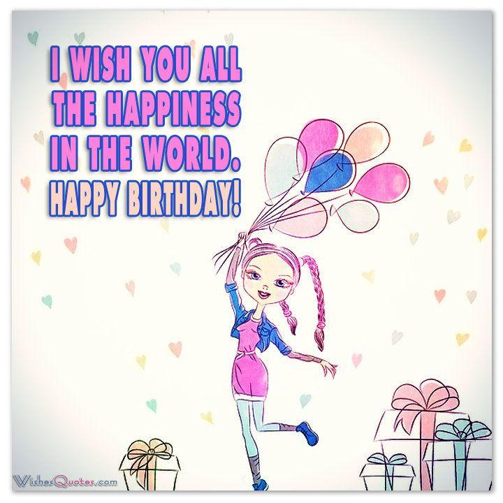 Поздравления с днем рождения на английском для девушки