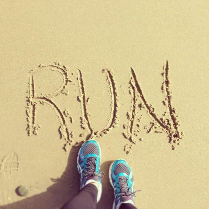 Love running on the beach!