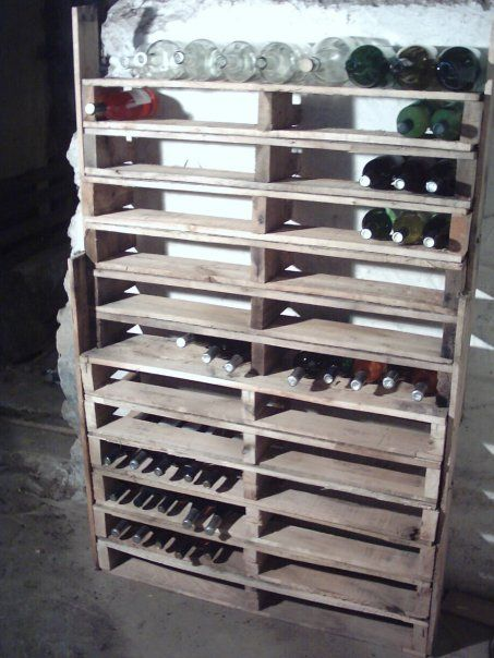 Pallet wine rack all about home pinterest for Pallet wine cabinet