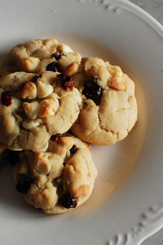White Chocolate Cranberry Cookies | cookies | Pinterest