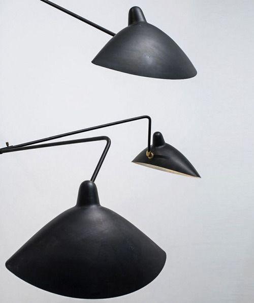serge mouille 1922 1988 three arm floor lamp. Black Bedroom Furniture Sets. Home Design Ideas