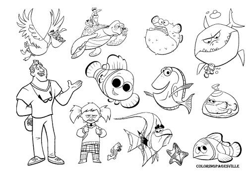 Dory squishy coloring pages coloring pages for Where the red fern grows coloring pages