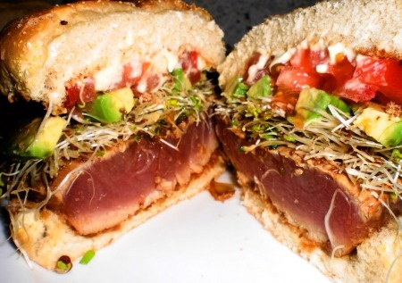 Ahi Tuna Sushi Sandwich | Good Food | Pinterest
