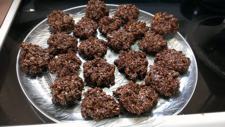 """No-Bake Coconut/oatmeal Cookies! 4.55 stars, 20 reviews. """"These were ..."""